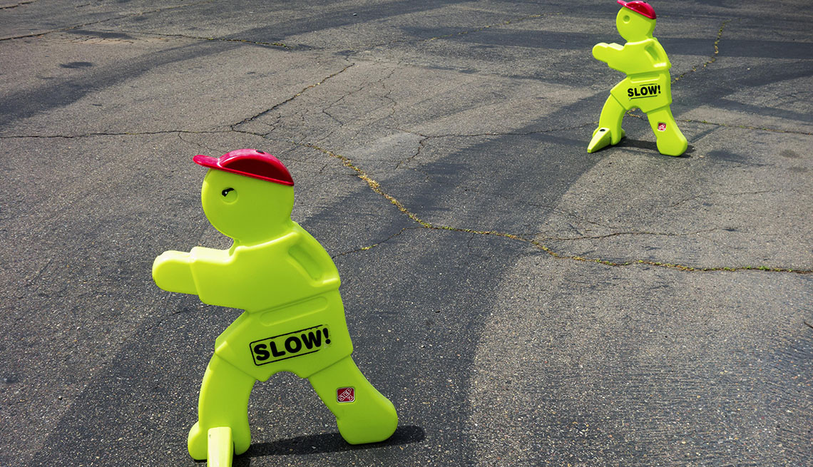 Two Slow Traffic Cones, Street, Vision Zero, Making Streets Safer For People Of All Ages