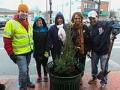 Tree planting in Providence, Rhode Island.