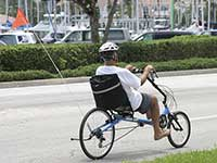 Recumbent tricycles are lower to the ground, making them easier and safer for many users.