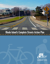 """Cover of the report """"Rhode Island's Complete Streets Action Plan"""""""