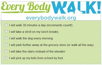 EveryBodyWalk! Pledge Questions