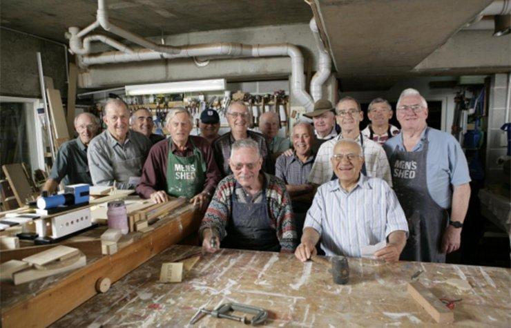 Members of a men's shed in Australia