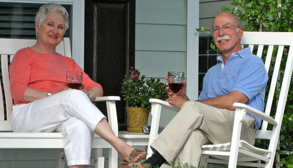 An Older Couple Sits On their Front Porch, Livable Communities, Why Older Adults Should Go Car-Free