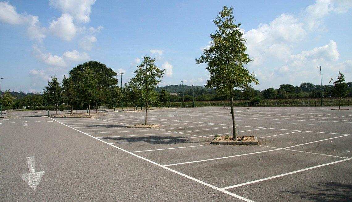 Empty Parking Lot, Going Car-Free, Livable Communities