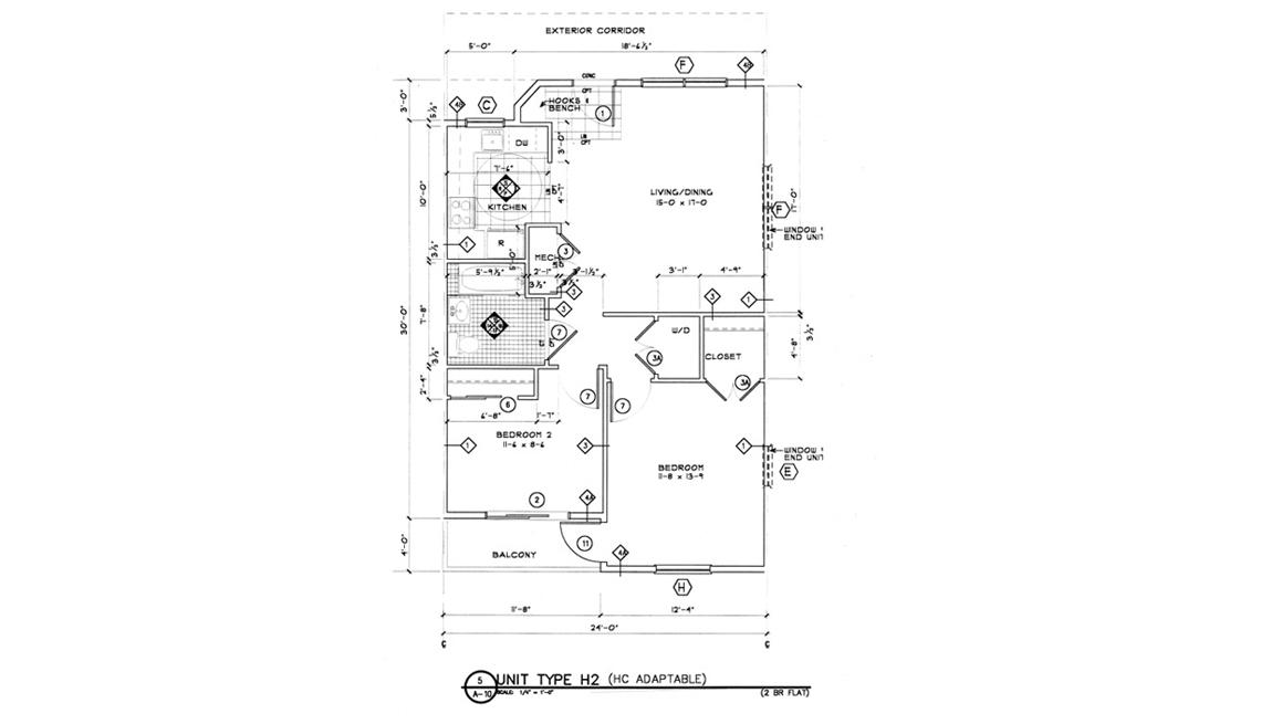 Floorplan For Co-Housing Residence, Livable Communities