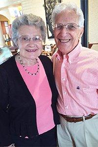 Beverly and Bill dancing at Wegmann's