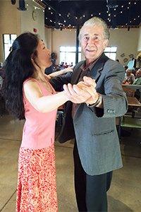 Theresa and John dancing at Wegmann's