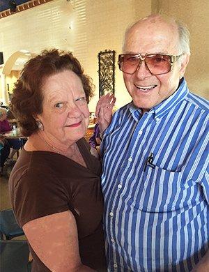 Judy and Goody dancing at Wegmann's