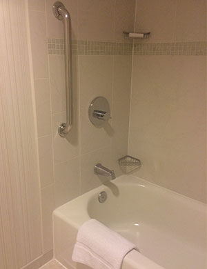 A shower-tub grab bar.