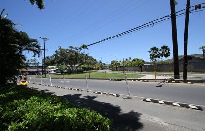 Streetscape in New Kailua, Hawaii
