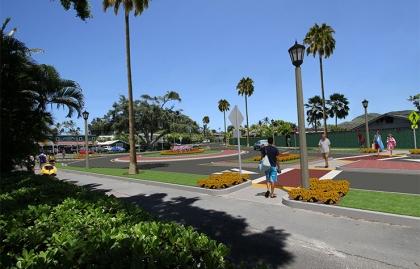 Proposed streetscape in Kailua, Hawaii