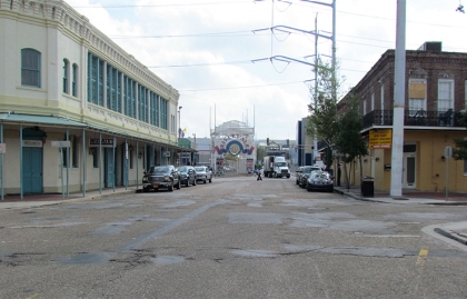 Streetscape in New Orleans, Louisiana