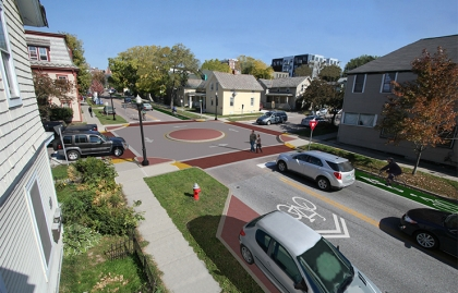 Proposed streetscape in Burlington, Vermont