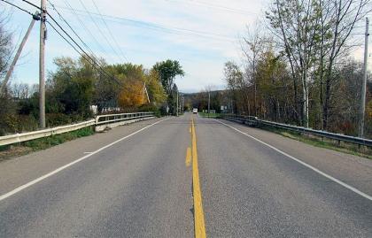 Roadway bridge in Underhill Flats, Vermont