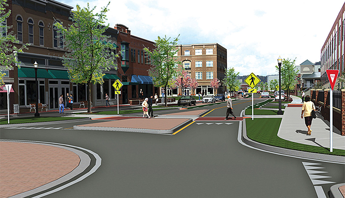 Solutions for Small-Town Main Streets, Redevelopment, Walkability