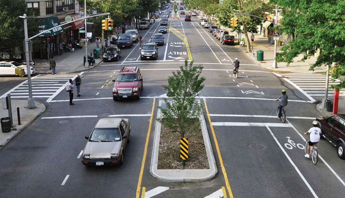 Safety Buffers Opposing Traffic, Cars, Busy Street, Bicyclists, Pedestrians, Livability Index, Livable Communities