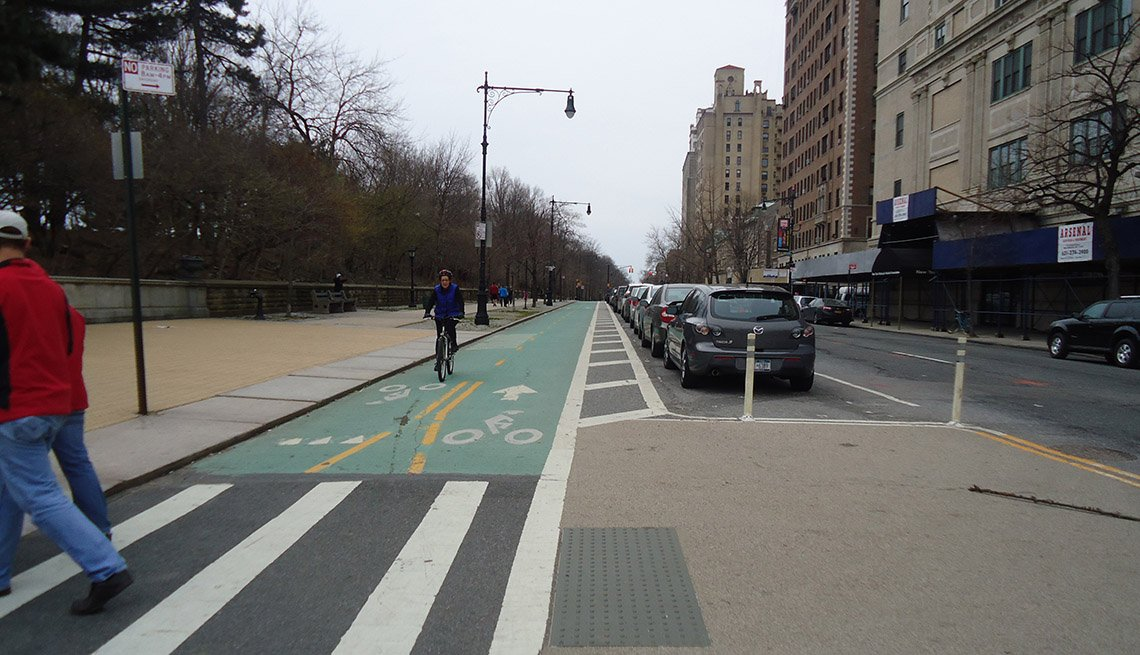 Marked Bicycle Lane, Path, New York City, Pedestrians, Livability Index, Livable Communities