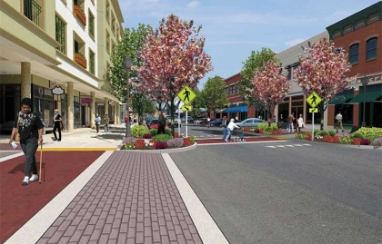 Proposed curb extension and revitalization in Hot Springs, Arkansas