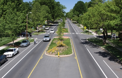 Road diet example in Charlotte, North Carolina