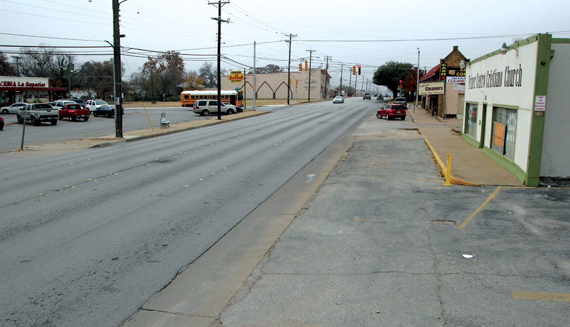 Fort Worth Texas Before Photo, Suburban Street, Livable Communities