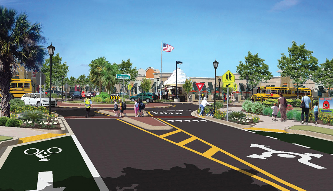 Winter Garden Florida, After Photo, Rendered Drawing, Livable Communities, Suburban Streets