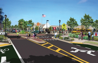 A proposed streetscape for Winter Garden, Florida