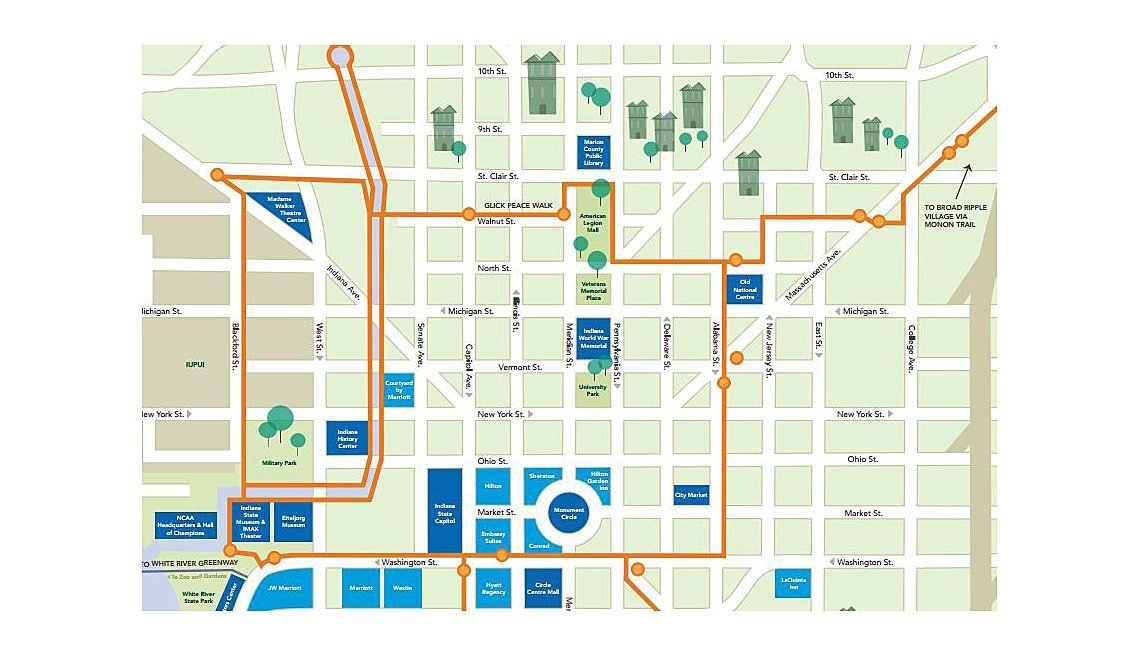 Map Showing A Trail Of Cultural Landmarks, Tourists, Inspiring Livability Efforts, Livable Communities