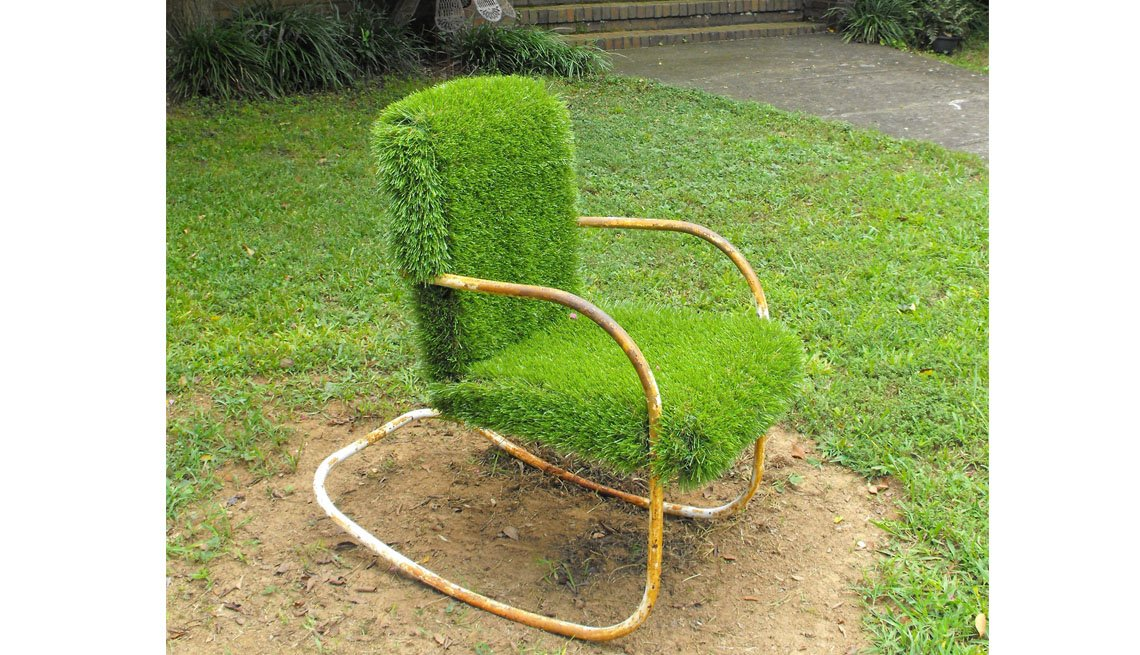 Lawn Chair Covered In Grass, Inspiring Livability Efforts, Livable Communities