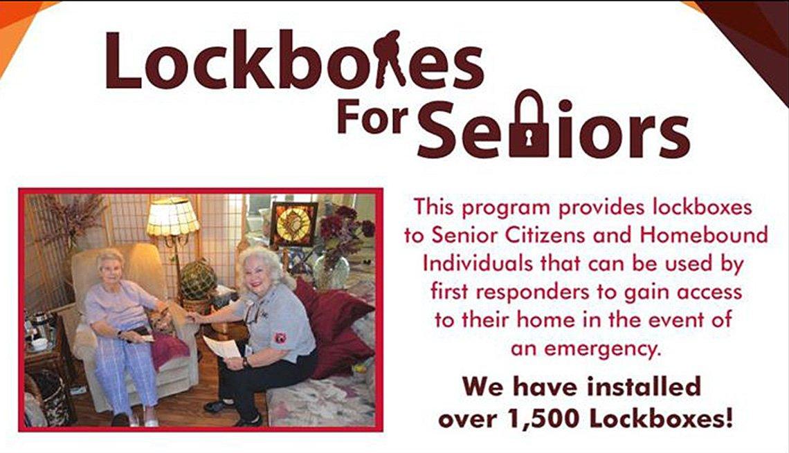 Lockboxes For Seniors Logo, Infographic, Inspiring Livability Efforts, Livable Communities