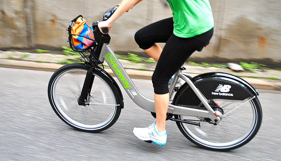 Woman Rides Her Bike, Bicycle, Inspiring Livability Efforts, Livable Communities
