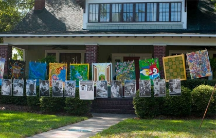 Yard Art Day in Charlotte, North Carolina