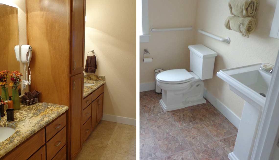 Take a Tour of Our Lifelong Home, the bathrooms