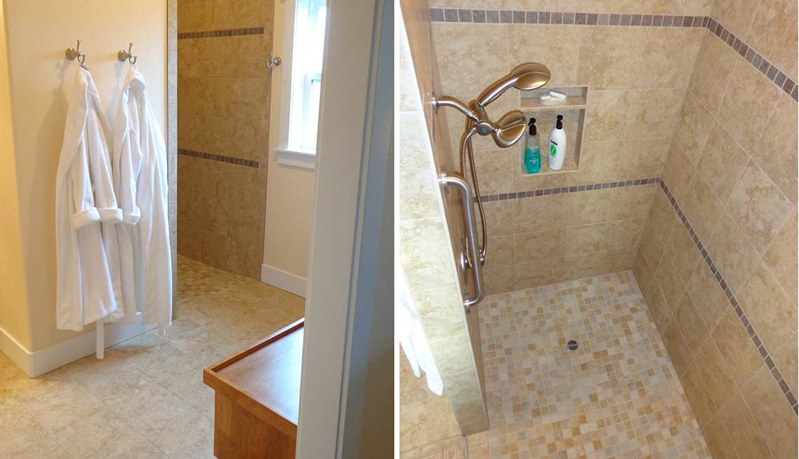 Take a Tour of Our Lifelong Home, the shower