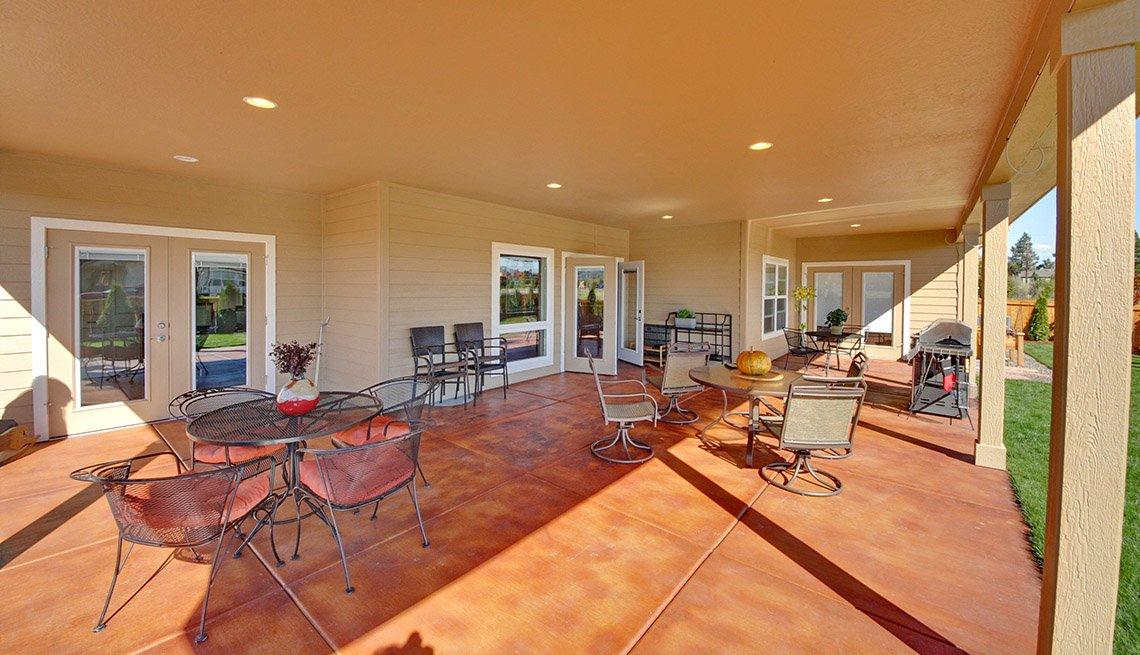 back patio patio furniture home oregon livable communities lifelong homes. Black Bedroom Furniture Sets. Home Design Ideas