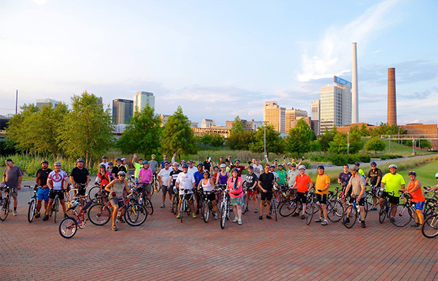 Bicyclists in Birmingham, Alabama's Tour de Ham