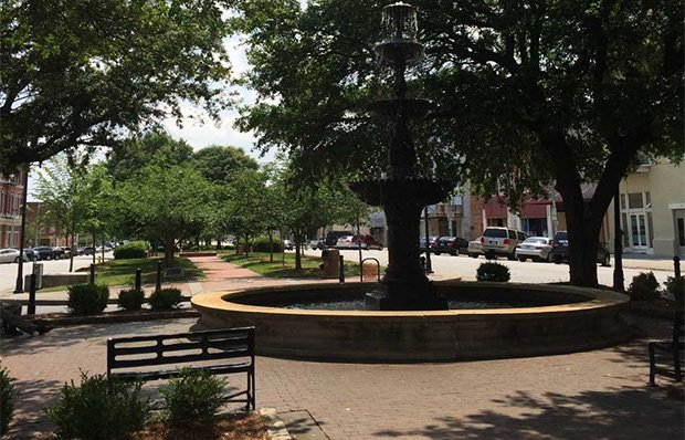 A foundation and outdoor seating area in Macon-Bibb, Georgia