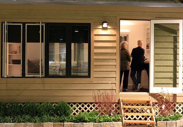 Slideshow - Tiny Houses for People of all Ages on mobile home loft, design loft, california loft, cozy loft, prefab loft, rv loft, small loft, diy loft, micro house with loft, off-grid homes with loft,