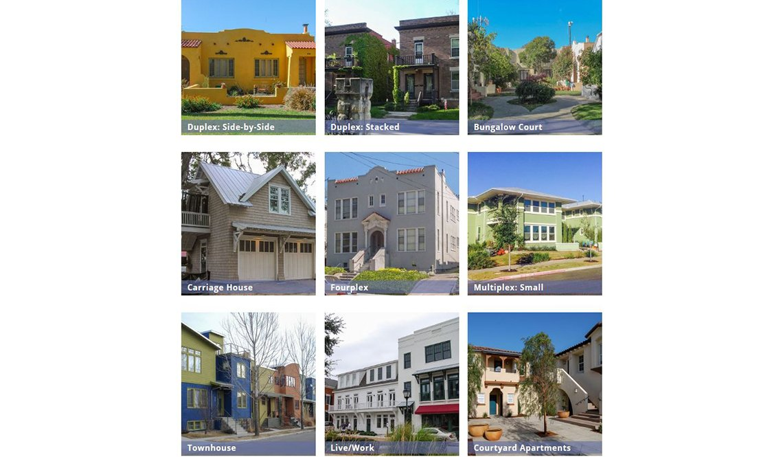 Nine examples of Missing Middle Housing