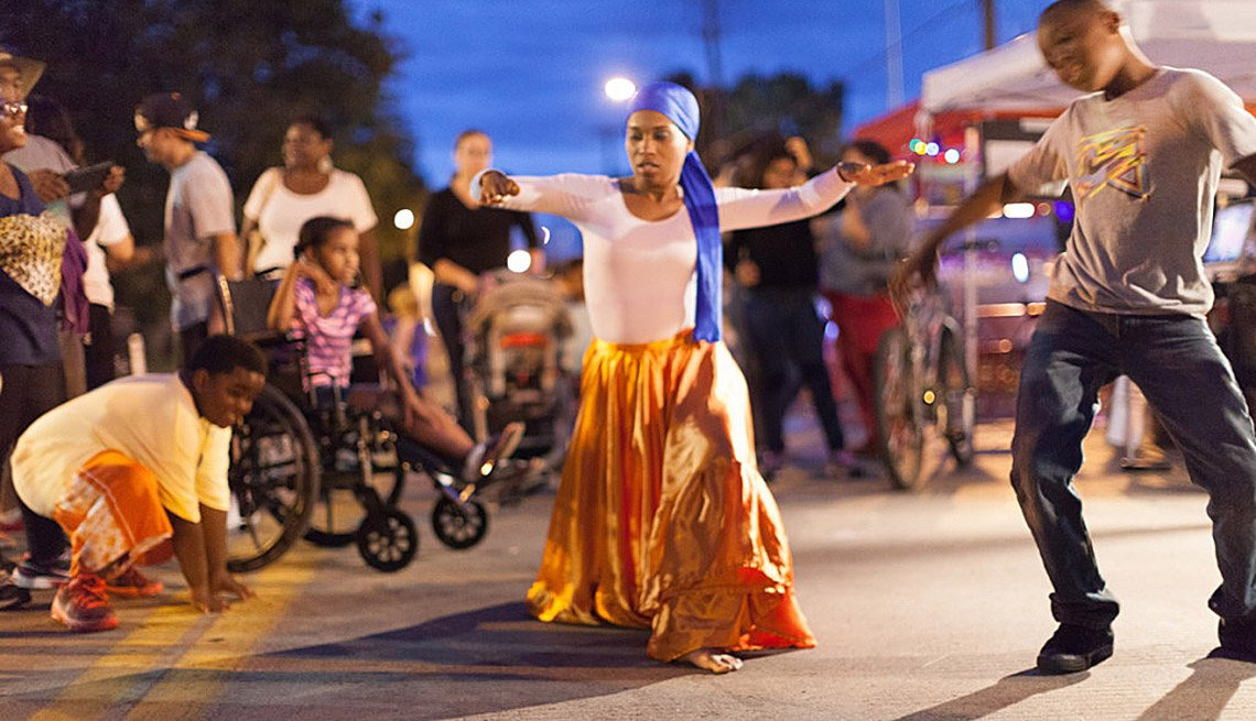 Dancing In The Street, Children, Girl, Guy, Nighttime, Block Party, Community Building, Livable Communities