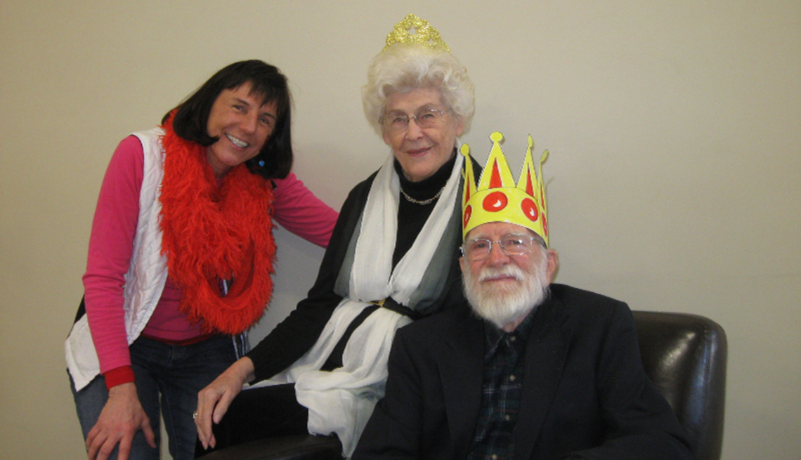 Pat Rumbaugh, Elderly Couple With Paper Crowns On Head, Pat Rumbaugh Interview