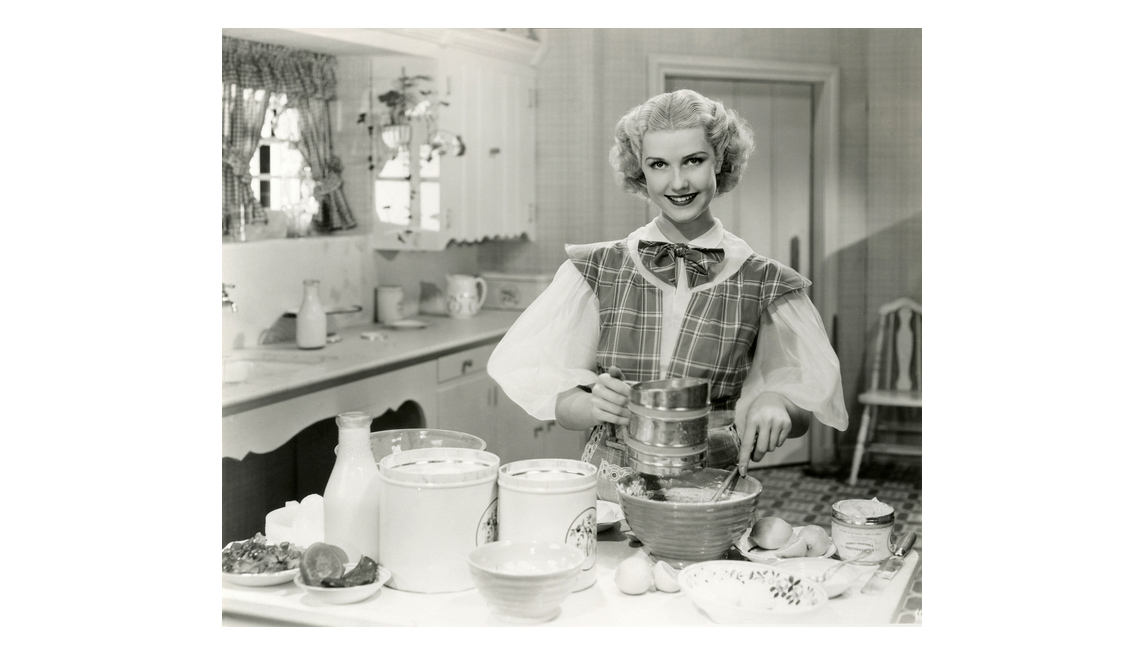 Woman In Kitchen, Baking, 1950s, Domestic Goddess, Gender Roles, Mildred Warner Interview