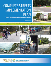 Cover of the Florida Complete Streets Implementation Plan