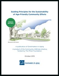 Cover of the report Guiding Principles for the Sustainability of Age-Friendly Community Efforts