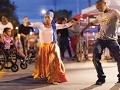 People dancing at a block party in Saint Paul, Minnesota