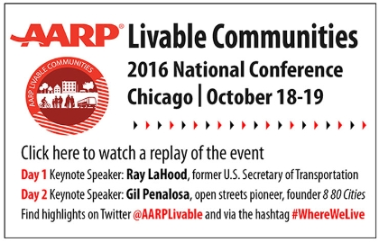 Promotion for the AARP Livable Communities 2016 National Conference