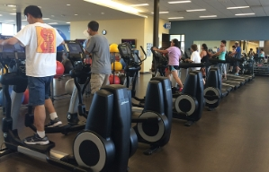 A fitness room in the Cooper Sky Multigenerational Center, City of Maricopa, Arizona