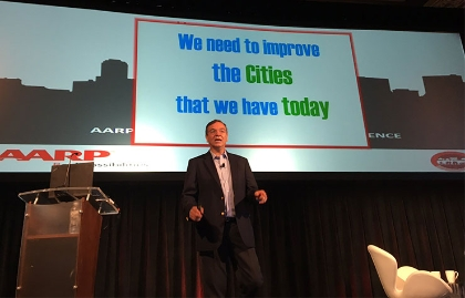 Gil Penalosa speaking at the 2016 AARP Livable Communities National Conference