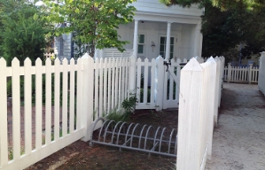 Bicycle parking at a residence in bicycle-friendly Seaside, Florida