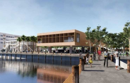 Artistic rendering of the proposed International African American Museum in Charleston, South Carolina