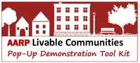 AARP Livable Communities Pop-Up Demonstration Tool Kit logo